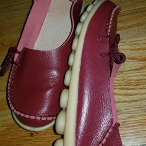 unknown Shoes - Red moccasin driving shoes